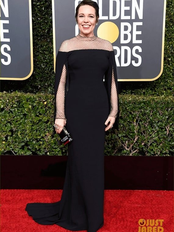 Olivia Colman wearing GINA couture