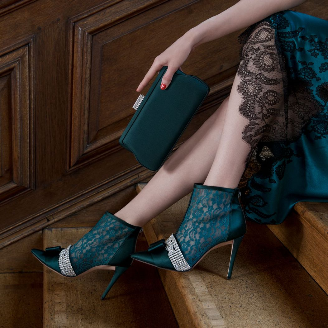 ZAHARA in Forest Lace GINA Boots #2