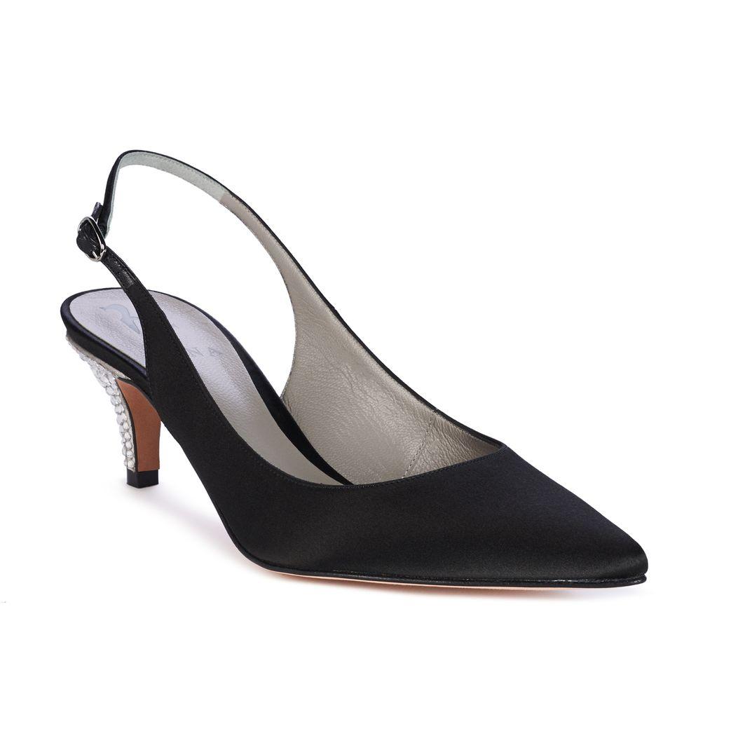 LILITH in Black Satin GINA Courts #2